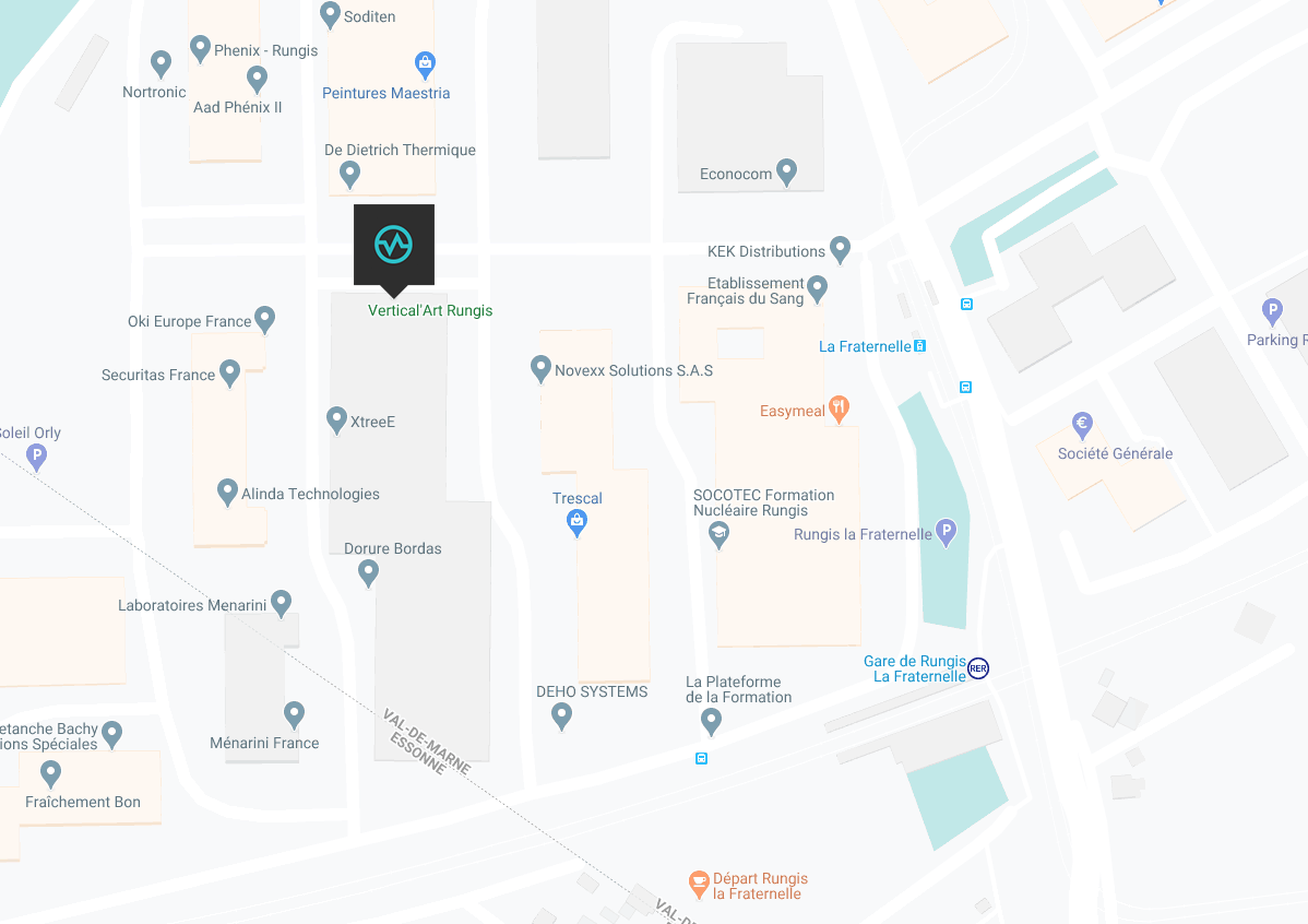 Carte emplacement de la salle de bloc rungis
