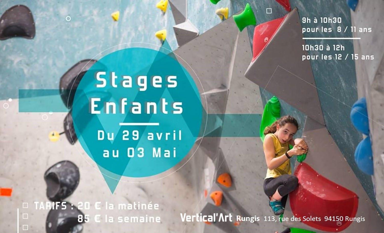 stage d'escalade de bloc à Vertical'Art Rungis pour les enfants et adolescents