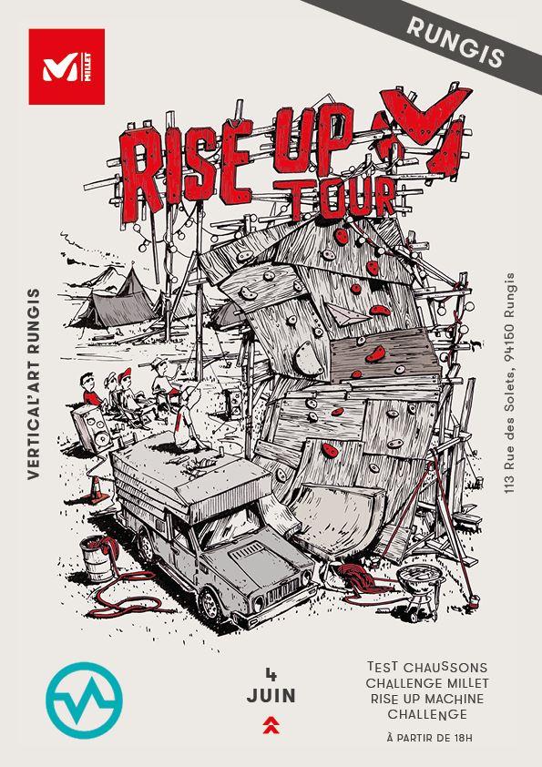 rise up tour à Vertical'Art Rungis - salle d'escalade - restaurant et bar - millet - test chausson d'escalade