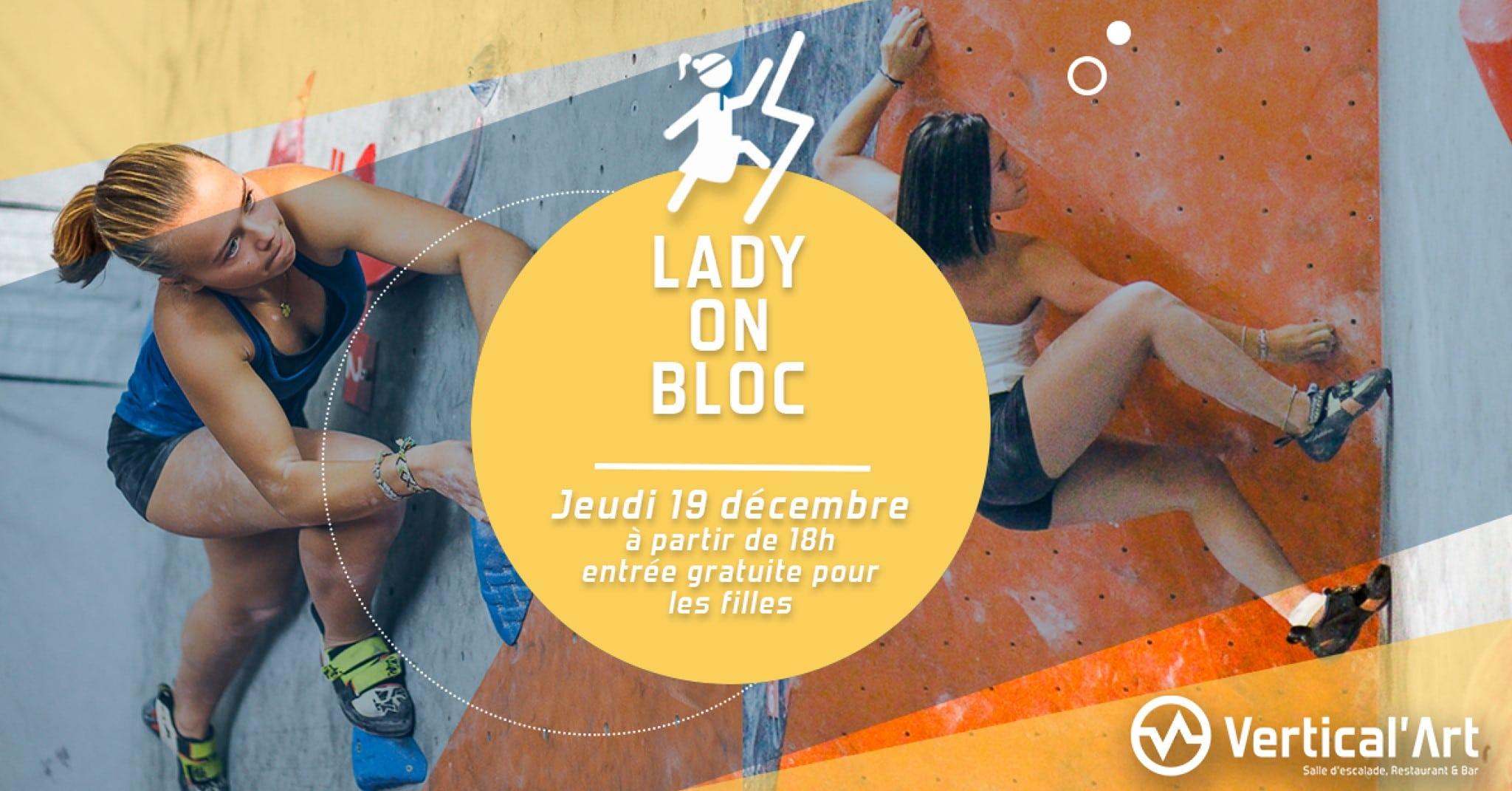 lady on bloc rungis - soirée fille à Vertical'Art Rungis - salle d'escalade de bloc - restaurant et bar - entrée gratuite pour les femmes