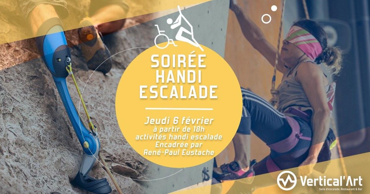 Soirée Handi-Escalade Vertical'art Rungis - Salle d'escalade de bloc- Vertical'art Rungis - Val de marne - Paralympique - Handi sport- escalade handi-valide