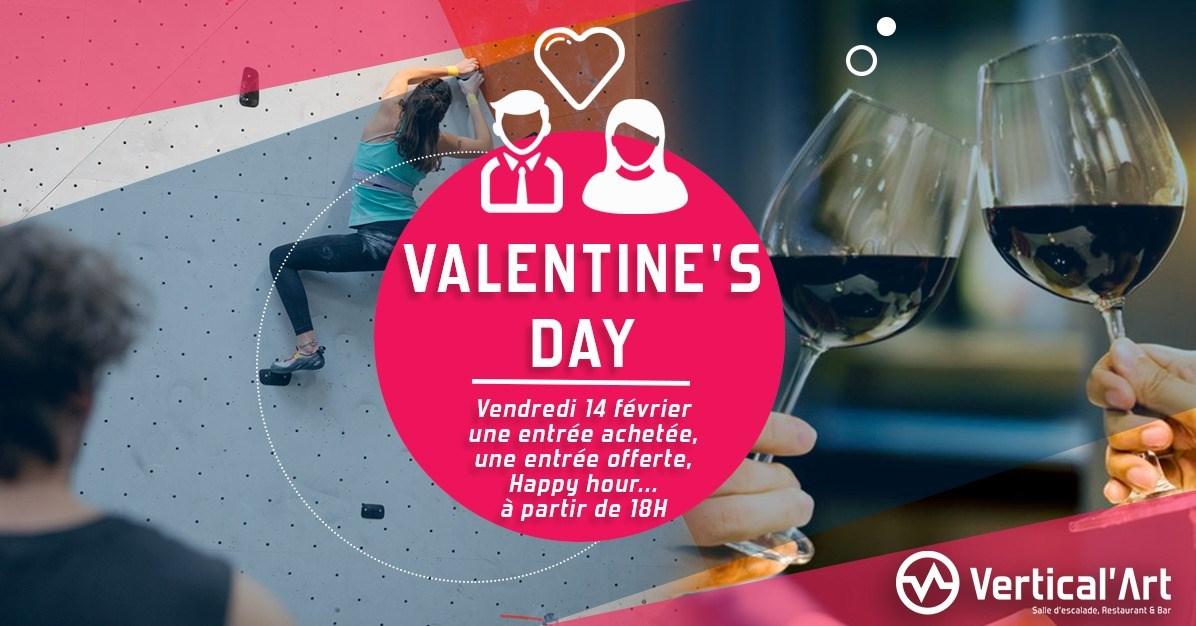 Valentine's day Rungis - Valentine's day à Vertical'art Rungis- Vertical'art Rungis - Soirée St valentin escalade- Restaurant sauna escalade à Vertical'art - soirée des amoureux - Grimpe en Duo -