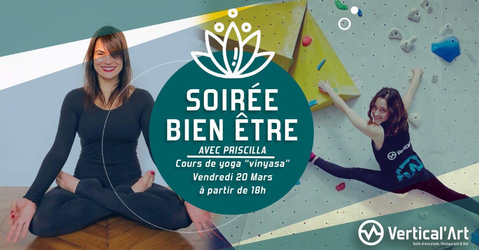 Soirée Bien-Etre Vertical'Art Rungis - Vertical'Art Rungis - Salle d'escalade Val de Marne -Vertical'Art Yoga -