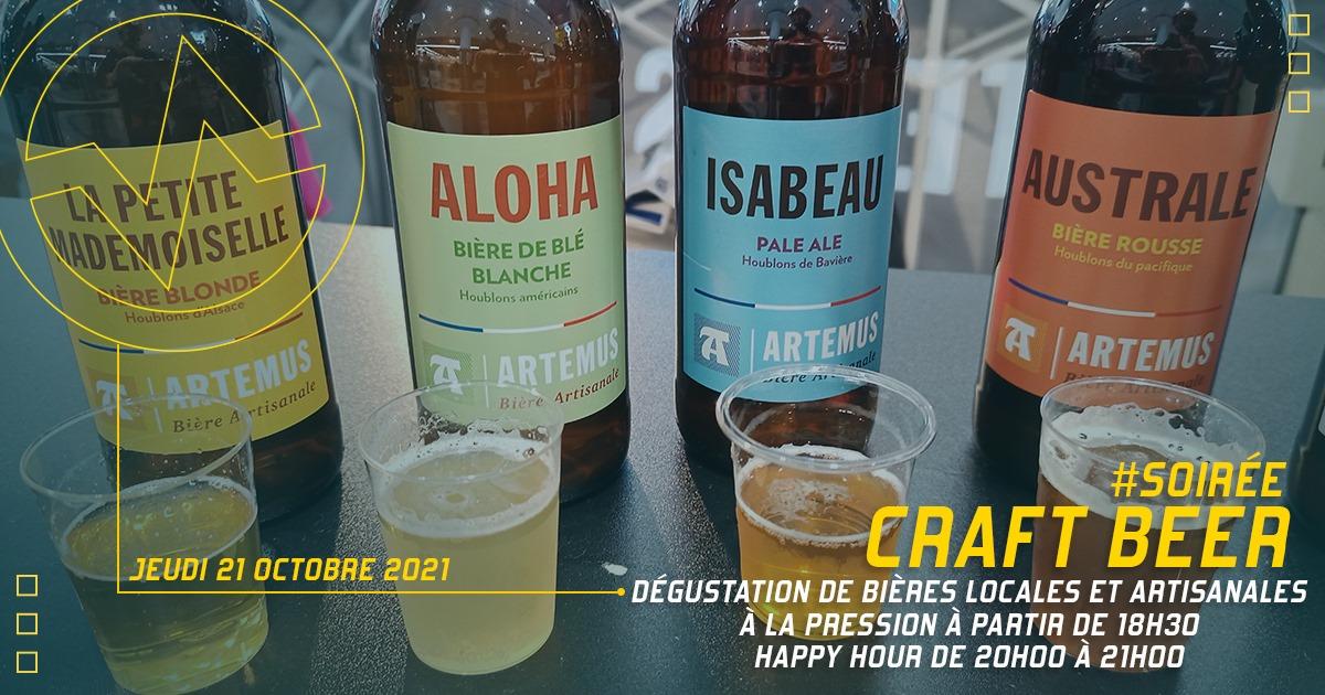 Soirée Craft Beer ce jeudi 21 octobre à Vertical'Art Rungis, dégustation de bières locales et artisanales à la pression à partir de 18h30, 1 heure d'Happy Hour entre 20h et 21h